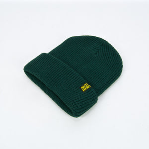 Anti Hero Skateboards - Blackhero Clip Label Cuff Beanie - Forest Green / Yellow