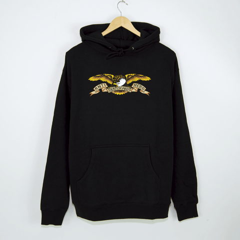 Anti Hero Skateboards - Eagle Pullover Hooded Sweatshirt - Black