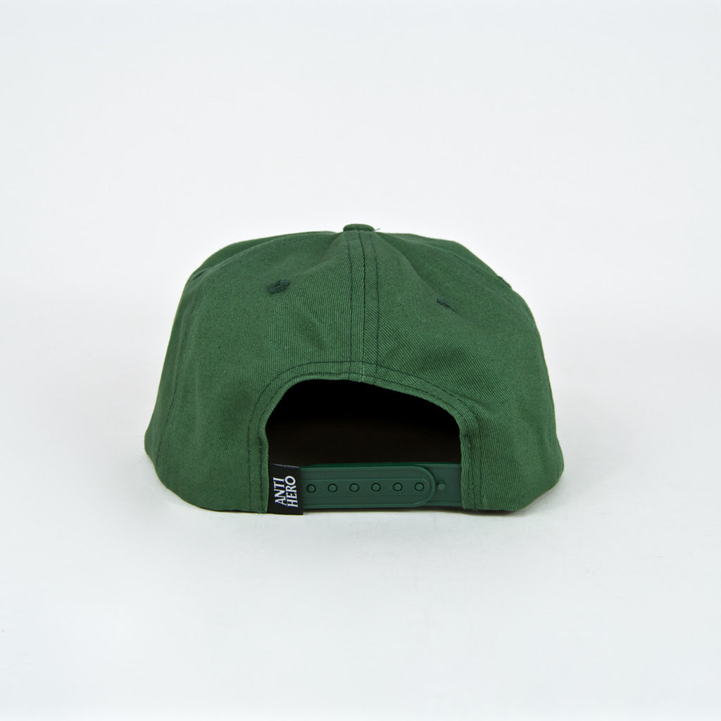 Anti Hero Skateboards - Eagle Snapback Cap - Black / Dark Green