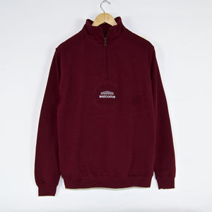 Welcome Skate Store - Arch Quarter Zip Sweatshirt - Burgundy