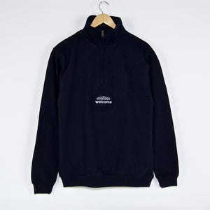 Welcome Skate Store - Arch Quarter Zip Sweatshirt - Navy