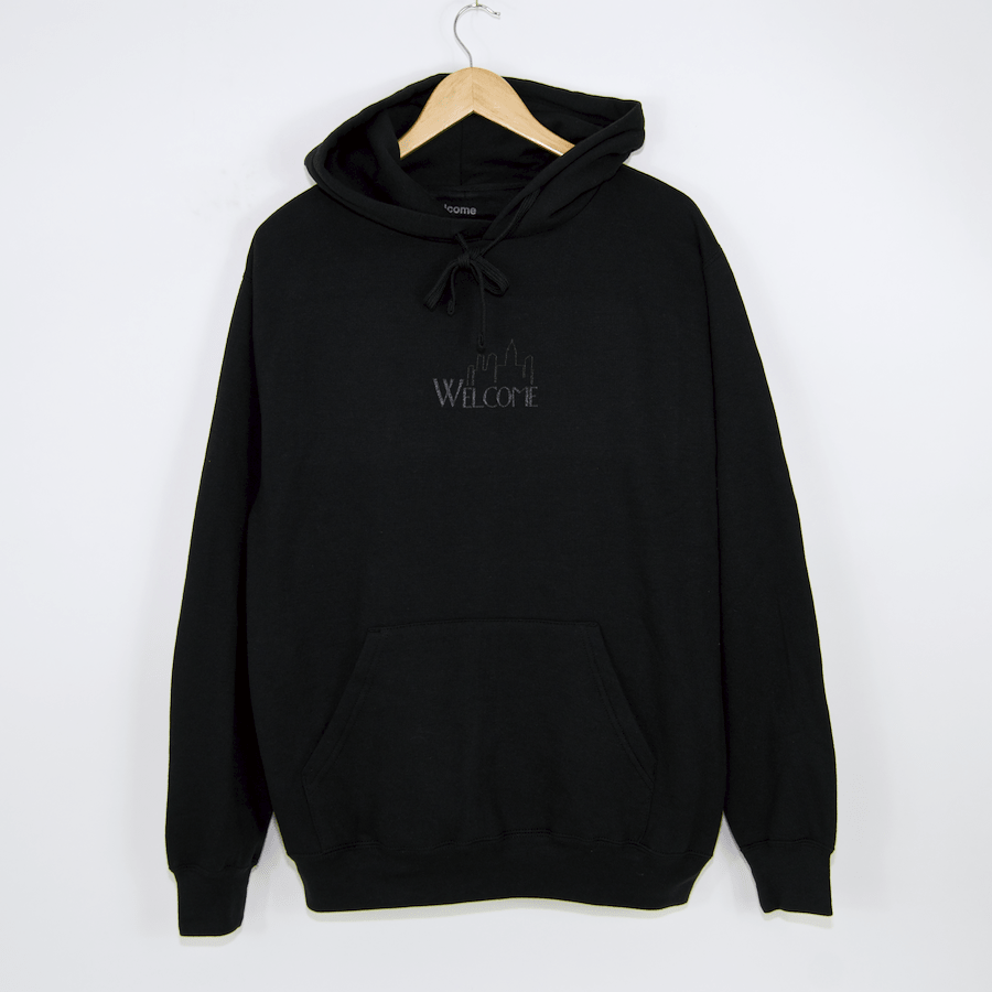 Welcome Skate Store - Big Head Pullover Hooded Sweatshirt - Black / 3M
