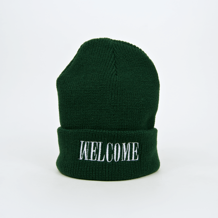 Welcome - Bleach Beanie - Green