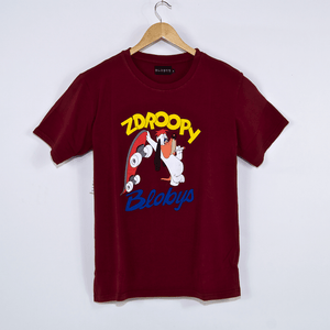 Blobys Paris - Zdroopy T-Shirt - Bordeaux Red