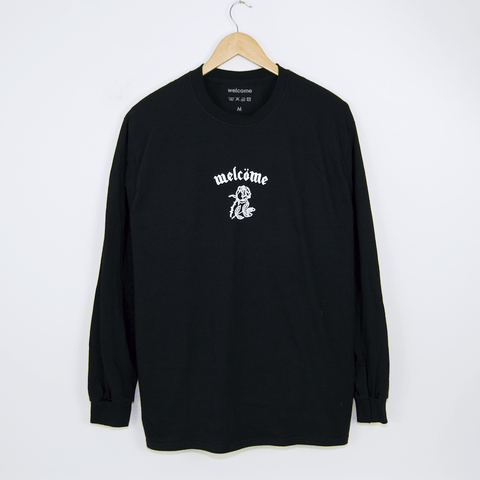 Welcome Skate Store - Bombber Longsleeve T-Shirt - Black