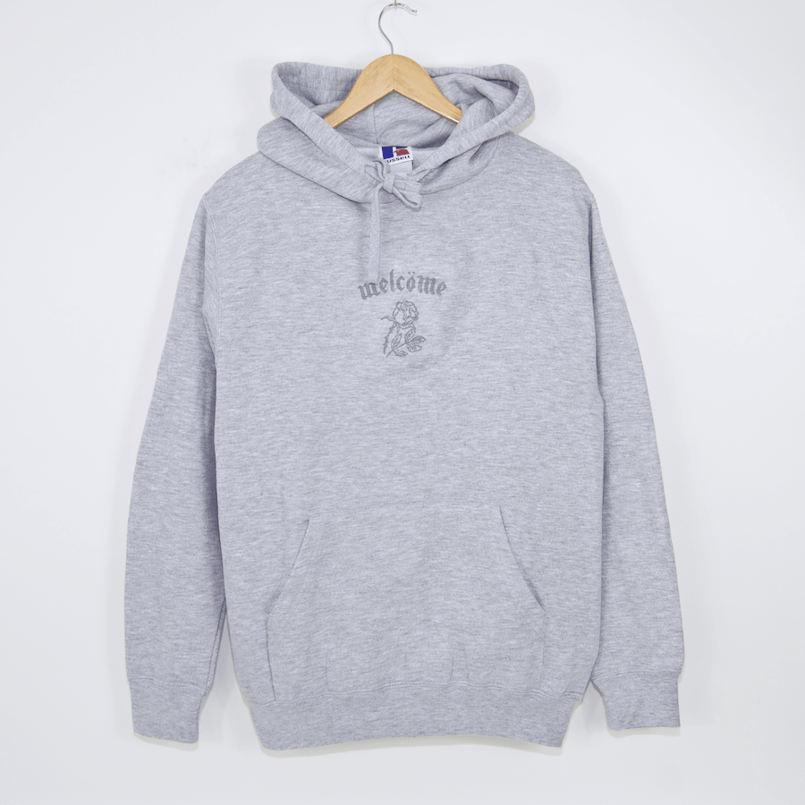 Welcome Skate Store - Bombber Pullover Hooded Sweatshirt - Grey / 3M
