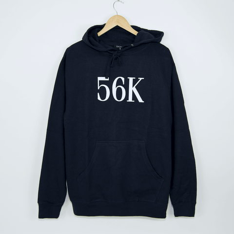 Bronze 56K - 56K Flock Print Hooded Sweatshirt - Navy
