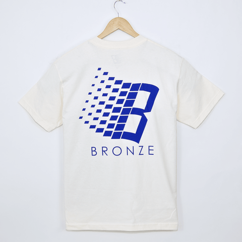 Bronze 56K - B Logo T-Shirt - Cream / Blue