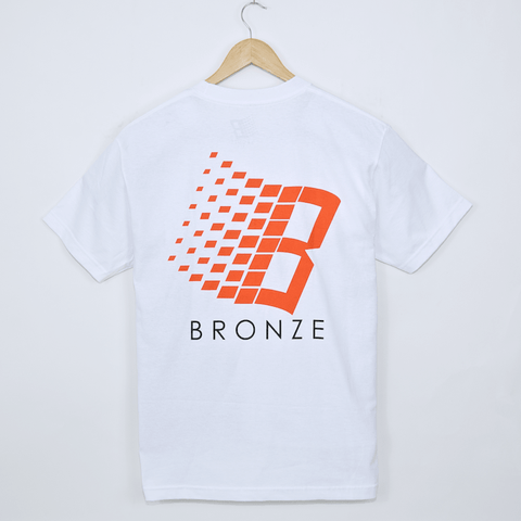 Bronze 56K - B Logo T-Shirt - White / Orange / Yellow