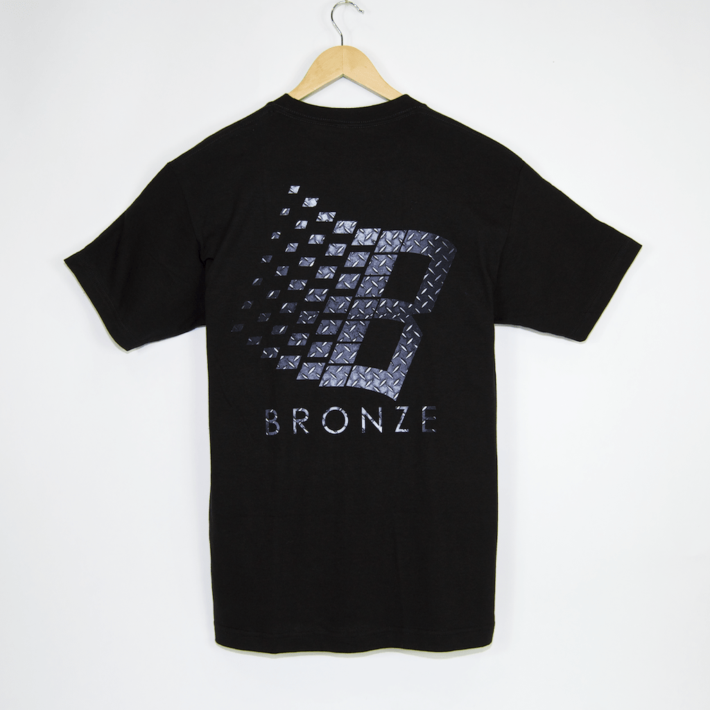 Bronze 56K - Diamond Plate Classic Logo T-Shirt - Black