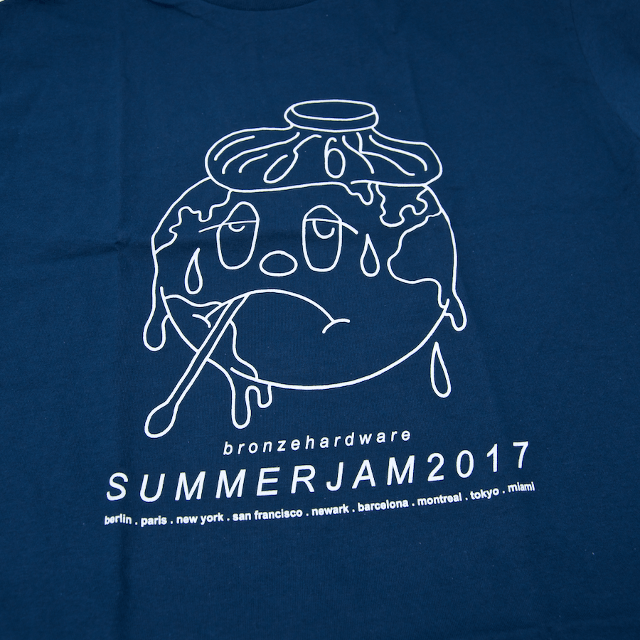 Bronze 56K - Summerjam T-Shirt - Harbor Blue / White