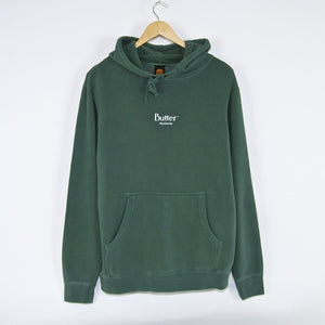 Butter Goods - Pigment Dye Micro Classic Pullover Hooded Sweatshirt - Alpine Green