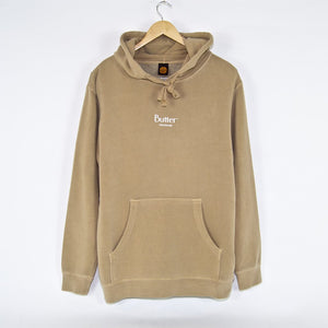 Butter Goods - Pigment Dye Micro Classic Pullover Hooded Sweatshirt - Sandstone
