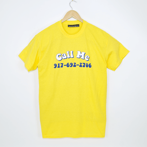 Call Me 917 - Groovy T-Shirt - Yellow