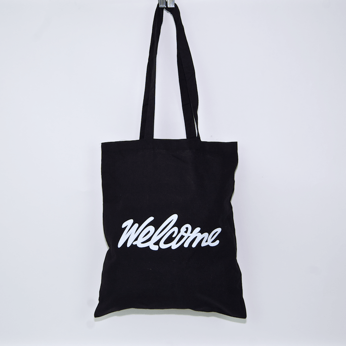 Welcome - Calligraphy Tote Bag - Black