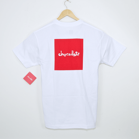 Chocolate Skateboards - Red Square T-Shirt - White