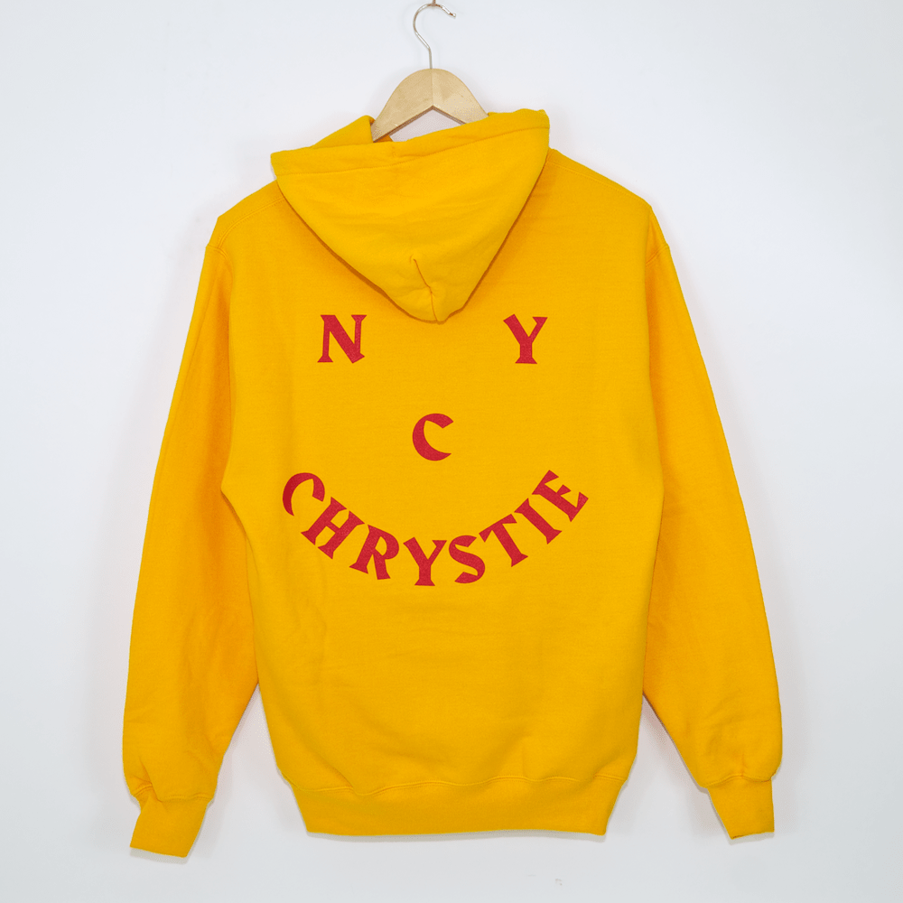 Chrystie NYC - Smile Logo Pullover Hooded Sweatshirt - Gold