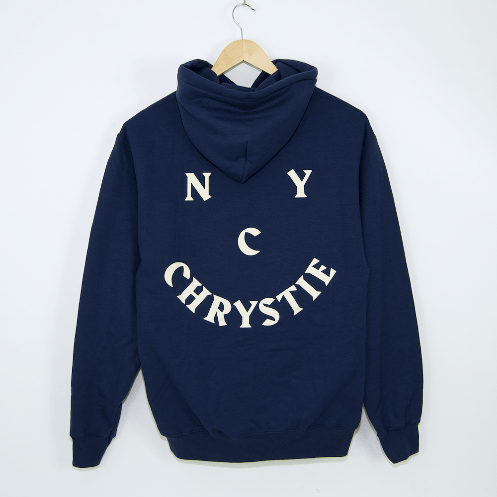 Chrystie NYC - Smile Logo Pullover Hooded Sweatshirt - Harbour Blue