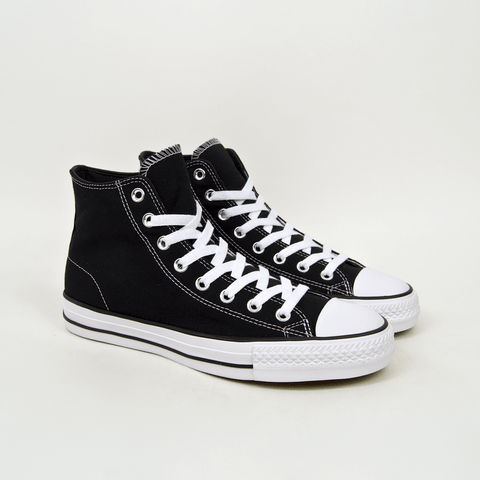 Converse Cons - CTAS Hi Pro OX (Canvas) Shoes - Black / Black / White
