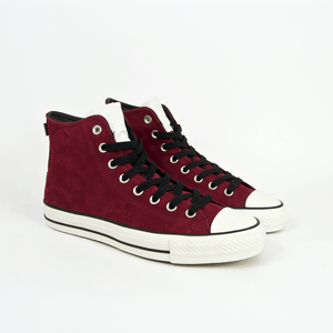 Converse Cons - CTAS Pro Hi Shoes - Pomegranate Red / Black / Egret