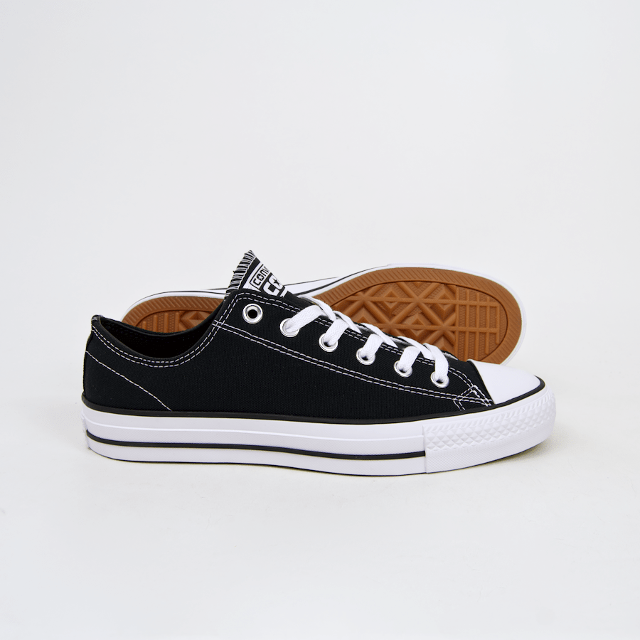 Converse Cons - CTAS Pro OX (Canvas) Shoes - Black / Black / White