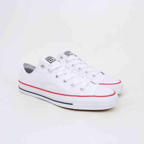Converse Cons - CTAS Pro OX (Canvas) Shoes - White / Red / Insignia Blue
