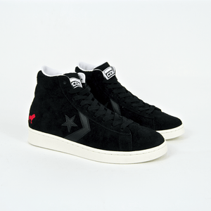 Converse Cons - Hopps Pro Leather Mid Shoes - Black / White / Egret