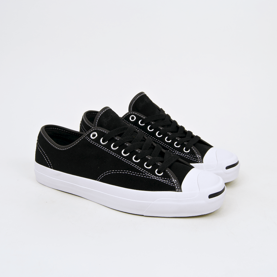 7bf87348a4ce ... Converse Cons - Jack Purcell Pro OX (Suede) Shoes - Black   Black ...