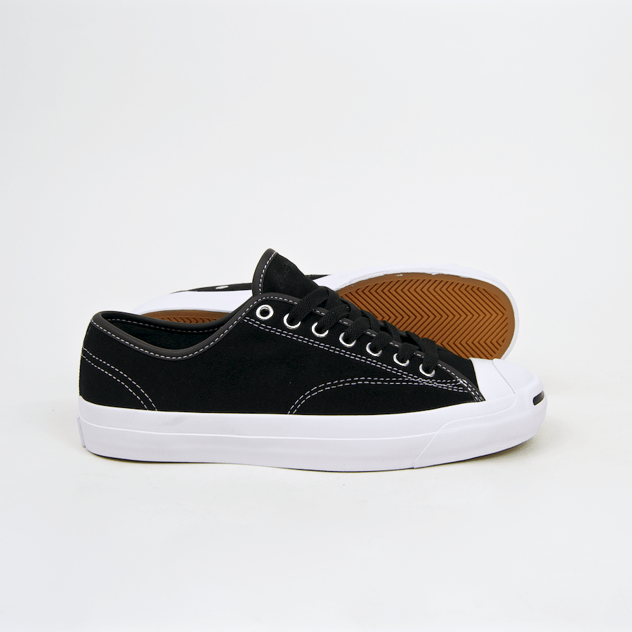 Converse Cons - Jack Purcell Pro OX (Suede) Shoes - Black / Black / White
