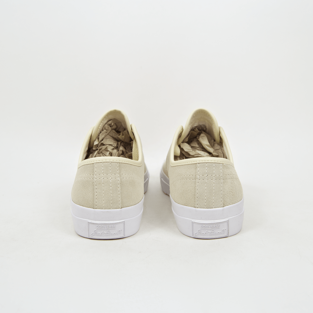 Converse Cons - Jack Purcell Pro OX (Suede) Shoes - Natural / White / White