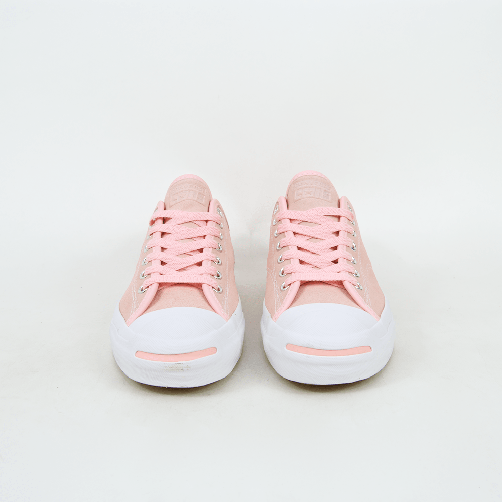 Converse Cons - Jack Purcell Pro OX (Suede) Shoes - Storm Pink / White / Gum