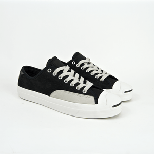 Converse Cons - Jack Purcell Pro Ox Shoes - Black / Pale Grey / Vintage White