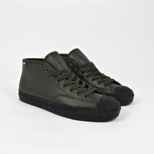 Converse Cons - Jake Johnson Jack Purcell Pro Mid (Leather) Shoes - Beluga / Black / Black