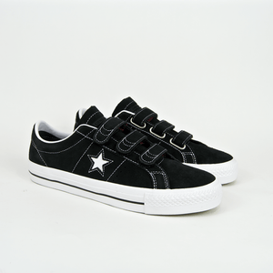223d4d7af2b Converse Cons - One Star Pro 3V OX Shoes - Black   Pomegranate Red   White