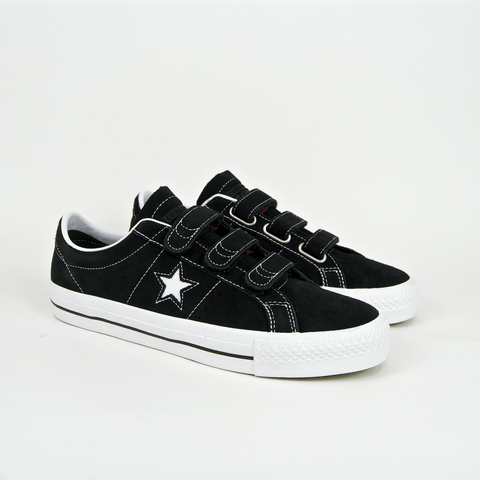 Converse Cons - One Star Pro 3V OX Shoes - Black / Pomegranate Red / White