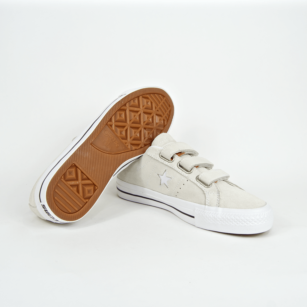 Converse Cons - One Star Pro 3V OX Shoes - Egret / Campfire Orange / White
