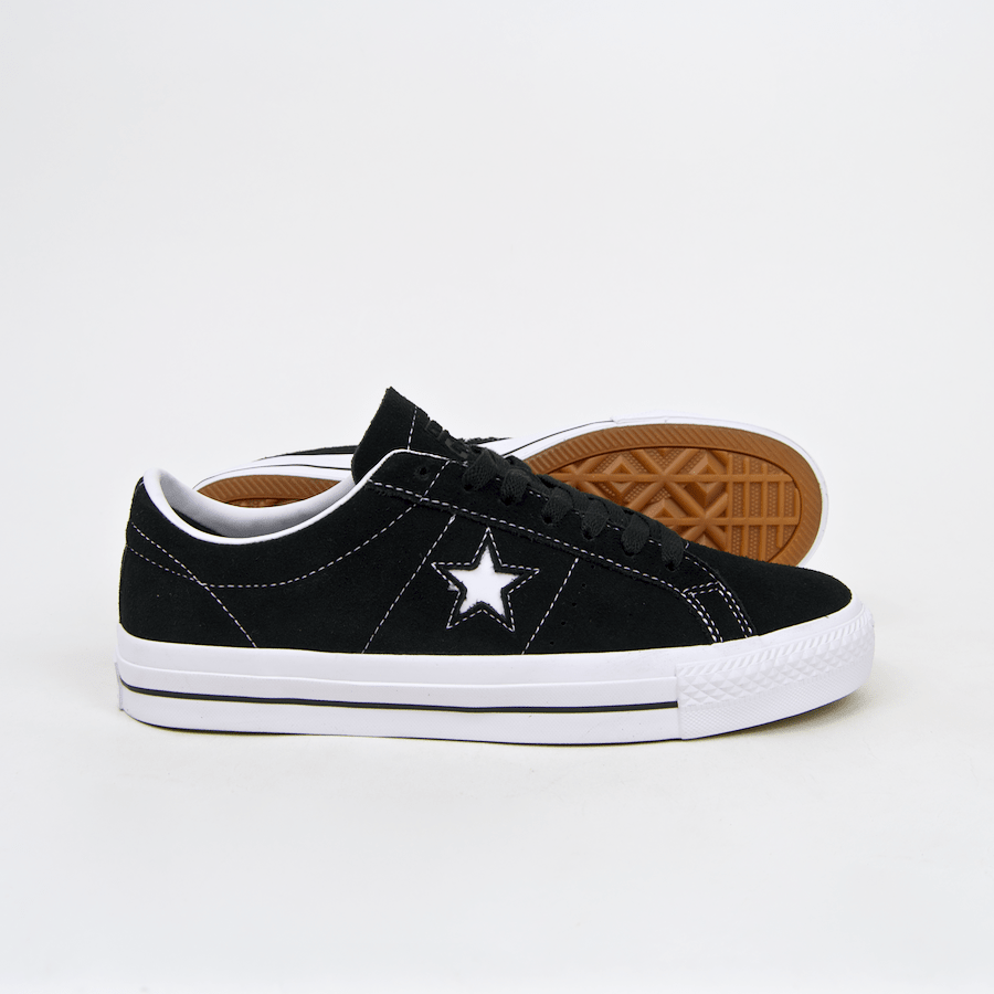 4311c88c61dd ... Converse Cons - One Star Pro OX Shoes - Black   White   White ...