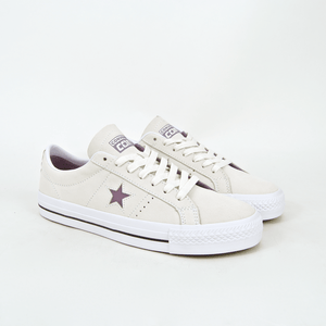 37df9aa9be7 Converse Cons - One Star Pro OX Shoes - Egret   Violet Dust   White