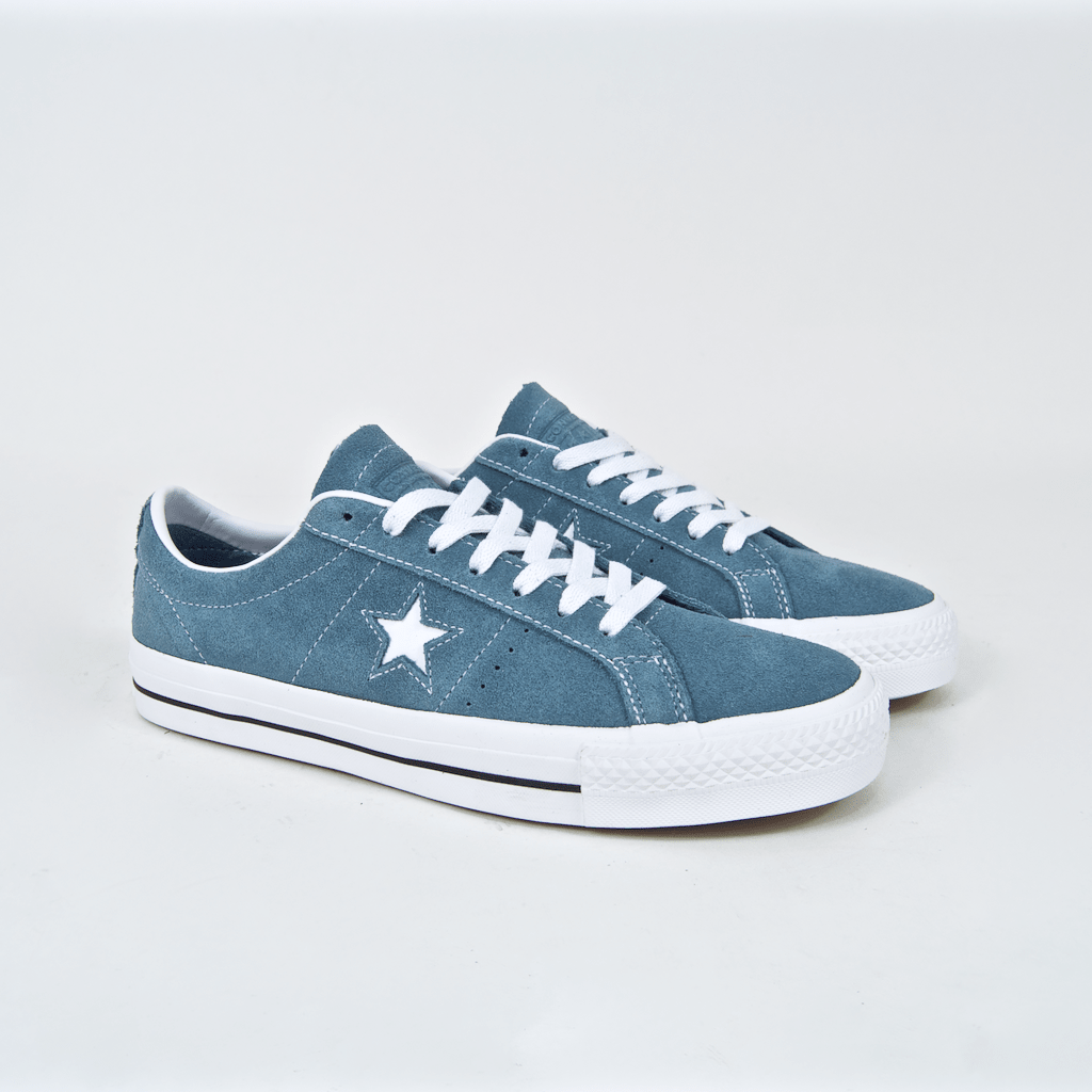 8bef7728d50 ... Converse Cons - One Star Pro Ox Shoes - Celestial Teal   Black   White  ...