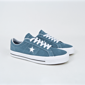 Converse Cons - One Star Pro Ox Shoes - Celestial Teal   Black   White 05a83b9ec