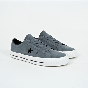 Converse Cons - One Star Pro Ox Shoes - Cool Grey   Black   White 04f198b93