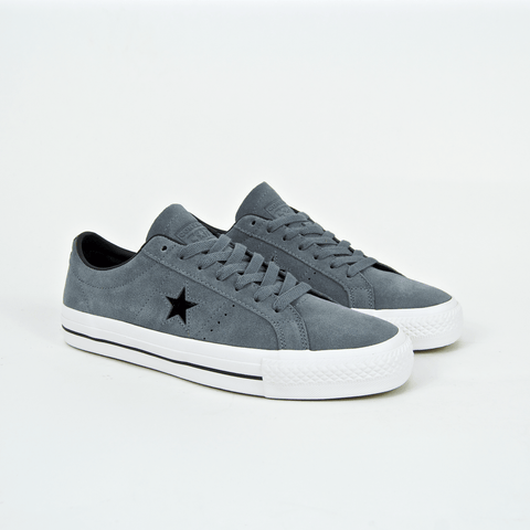 Converse Cons - One Star Pro Ox Shoes - Cool Grey / Black / White
