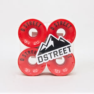 D-Street - 59mm (78a) 59 Cent Skateboard Wheels - Red