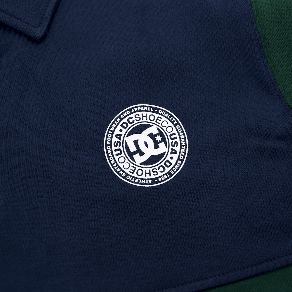 DC Shoes - Dellwood Half-Zip Polo Sweatshirt - Pine Grove
