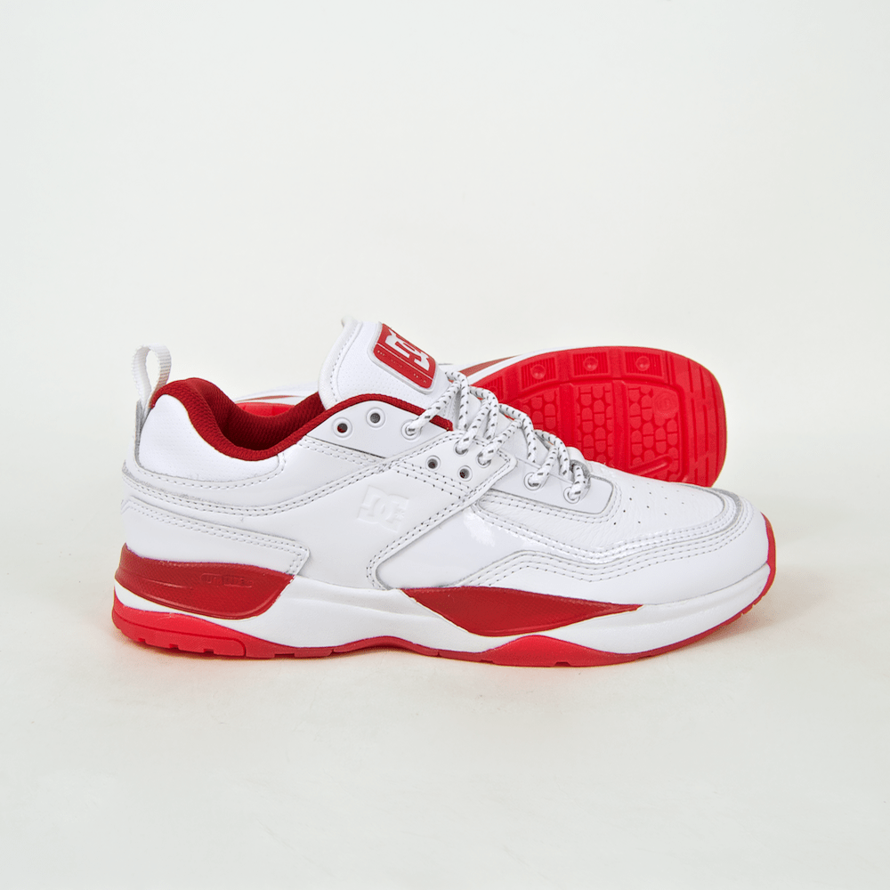 DC Shoes - E. Tribeka S John Shanahan Shoes - White / Red