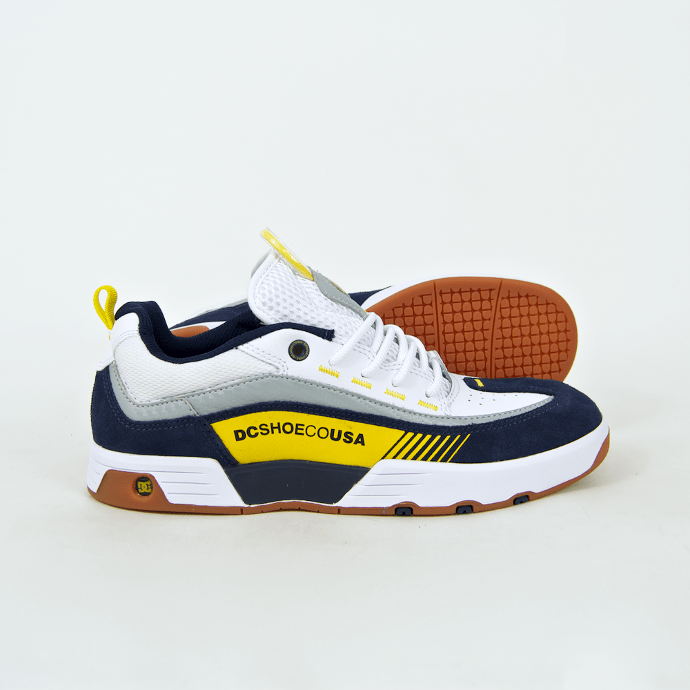 DC Shoes - Legacy 98 Slim S Shoes - White / Yellow / Blue