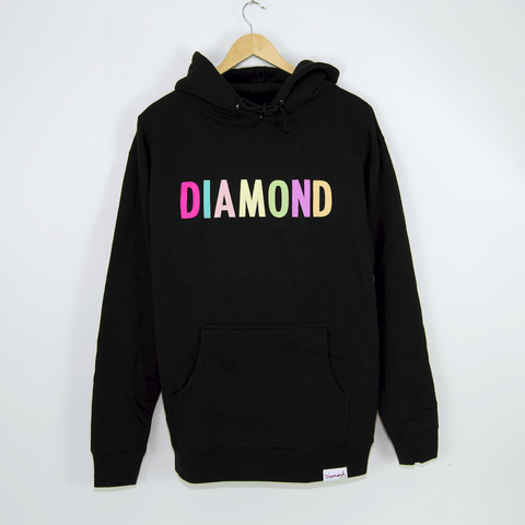 Diamond Supply Co. - Colour Pop Pullover Hooded Sweatshirt - Black