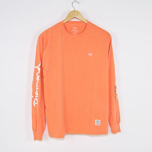 Diamond Supply Co. - Micro Brilliant Overdye Longsleeve T-Shirt - Peach
