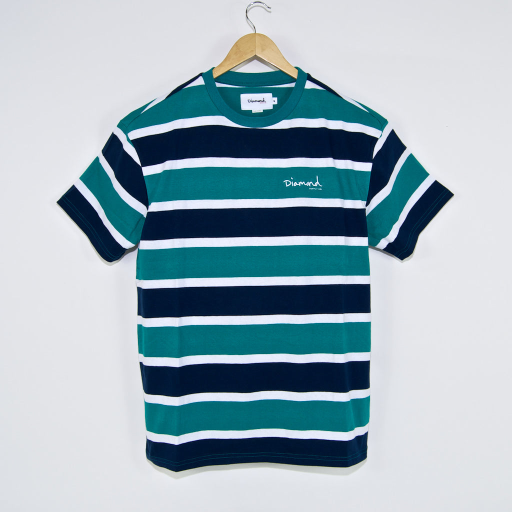 Diamond Supply Co. - Mini OG Script Striped T-Shirt - Teal