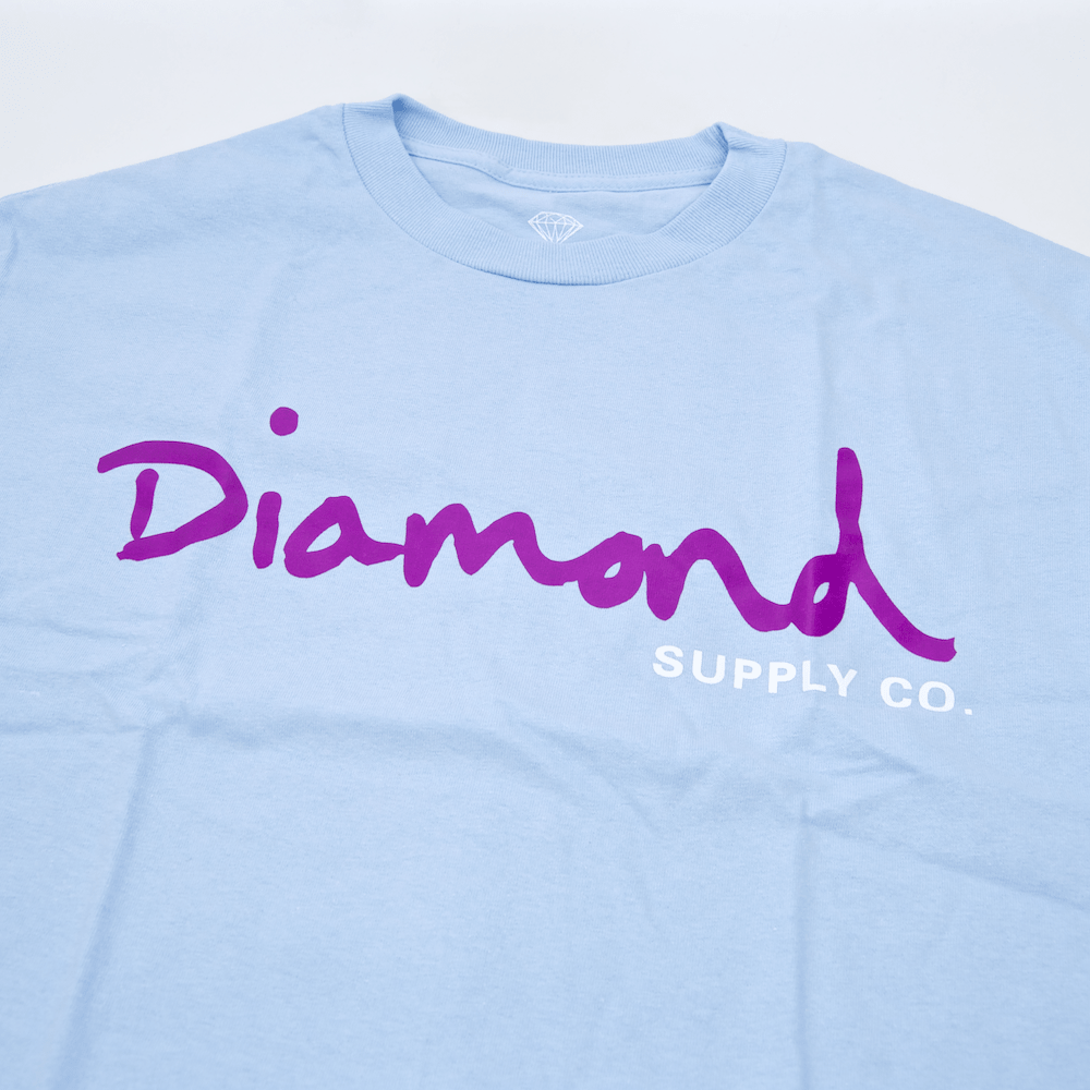 Diamond Supply Co. - OG Script Longsleeve T-Shirt - Powder Blue